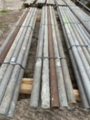 SCAFFOLD PIPES 8' LONG TO BE SOLD PER PIPE WITH THE OPTION ON THE NEXT 10 LOTS