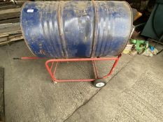 OIL DRUM ON TRANSPORTER