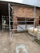 """5 SECTION SCAFFOLD TOWER AND TIMBERS TO 9'4"""""""