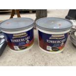TWO TUBS OF RONSEAL TIMBERCARE RICH OAK PAINT