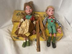 TWO BOXED VINTAGE PELHAM PUPPETS - HANSEL AND GRETEL