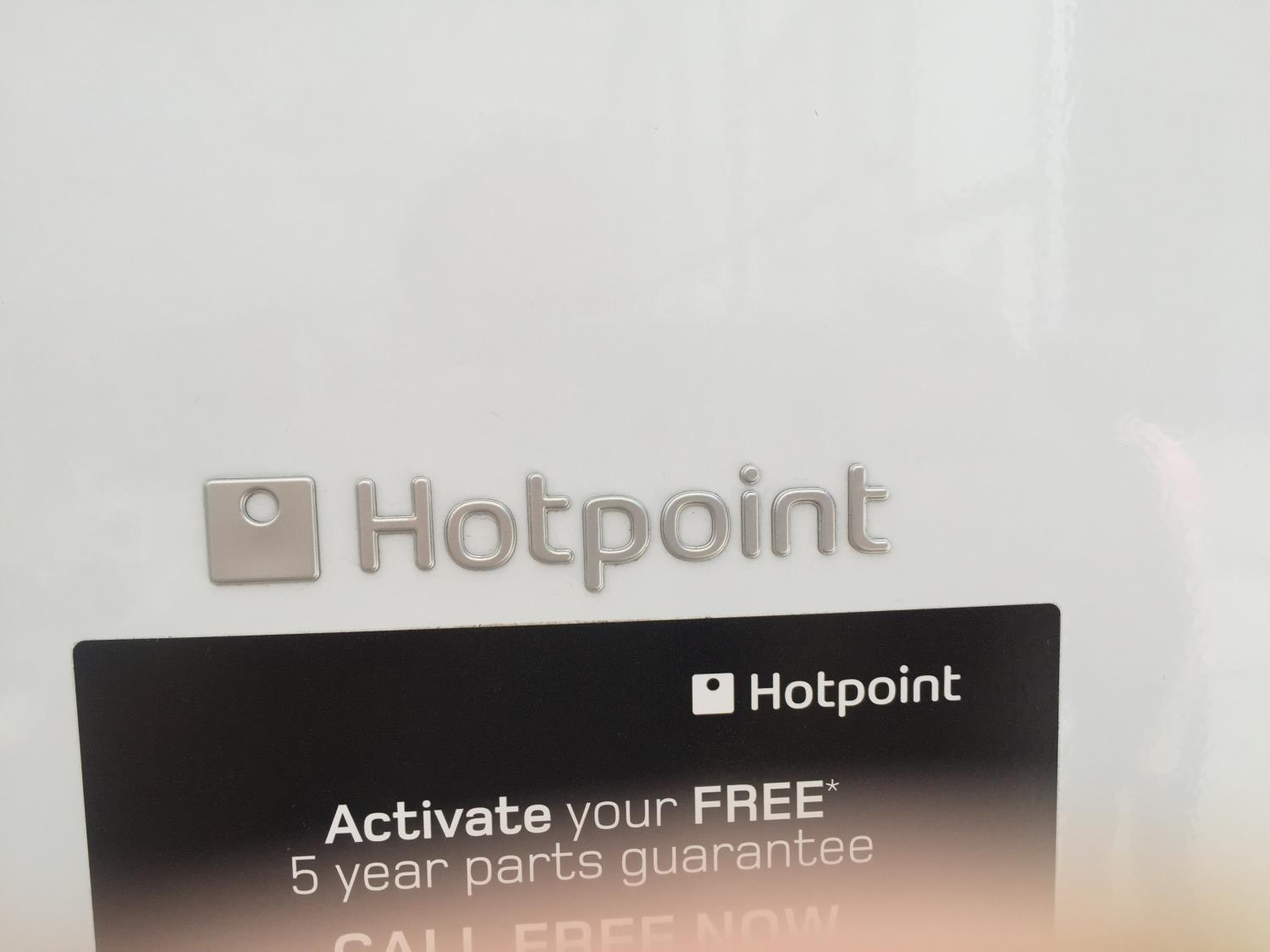 A WHITE HOTPOINT UPRIGHT FRIDGE BELIEVED IN WORKING ORDER BUT NO WARRANTY - Image 2 of 3