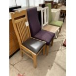 FOUR VARIOUS MODERN DINING CHAIRS