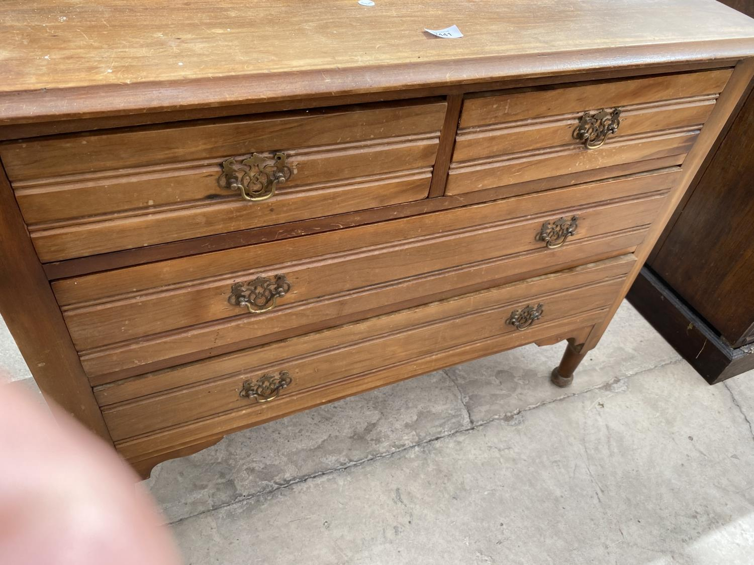 """A VICTORIAN SATINWOOD DRESSING CHEST, 38"""" WIDE - Image 7 of 7"""