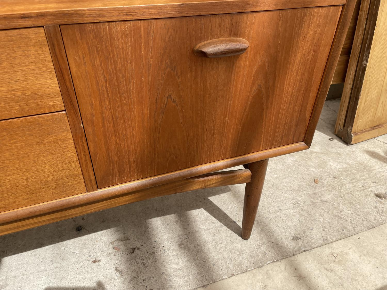 A G PLAN RETRO TEAK SIDEBOARD WITH UPPER CABINET - Image 6 of 8
