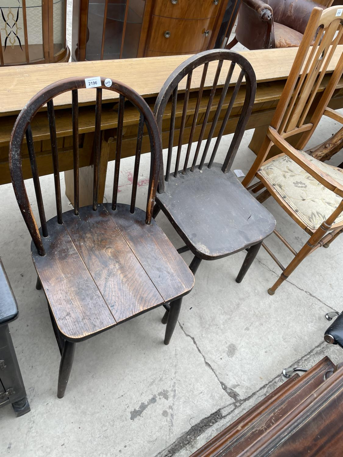 A PAIR OF ERCOL DINING CHAIRS