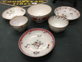 SIX PIECES OF 18TH/19TH CENTURY ENGLISH PORCELAIN DISHES