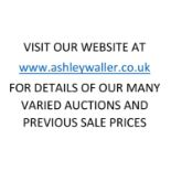 END OF SALE, THANK YOU FOR YOUR BIDDING. OUR NEXT SALE IS THE 4th AND 5th AUGUST