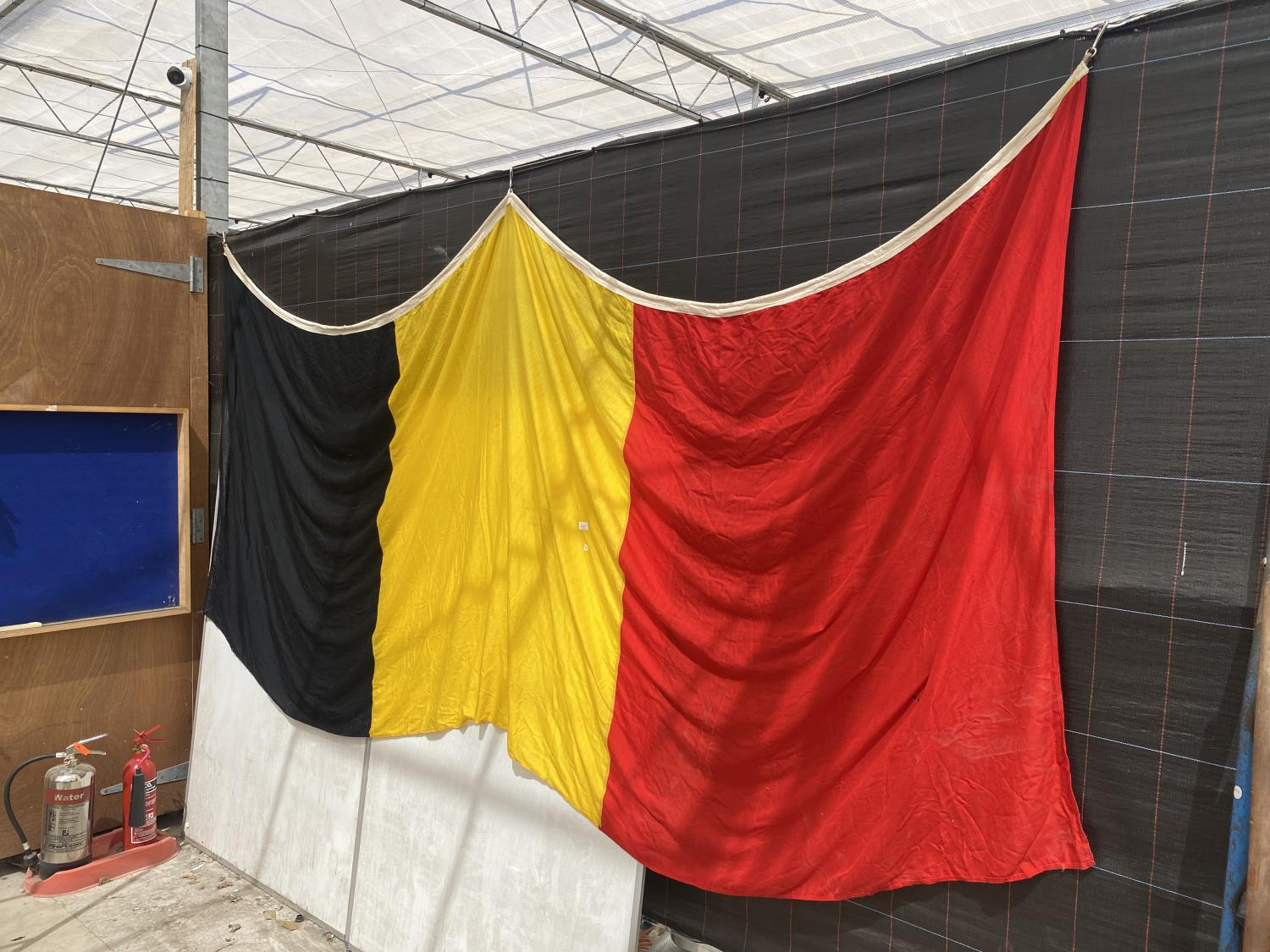 AN EXTREMELY LARGE BELGIUM FLAG