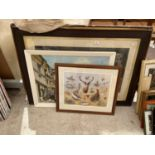 AN ASSORTMENT OF FRAMED PICTURES TO INCLUDE A 154/1000 LIMITED EDITION R MCPHAIL HUNTING PRINT