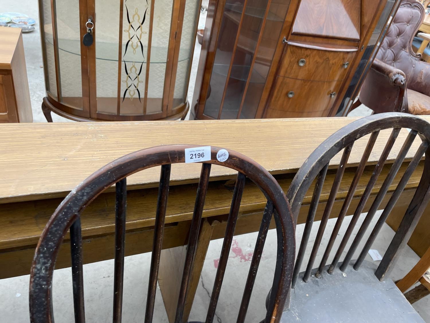 A PAIR OF ERCOL DINING CHAIRS - Image 2 of 3