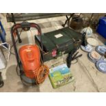 ANM ASSORTMENT OF ITEMS TO INCLUDE A FLYMO LAWN MOWER, VINTAGE TRAVEL CASE AND DOOR FURNITURE ETC