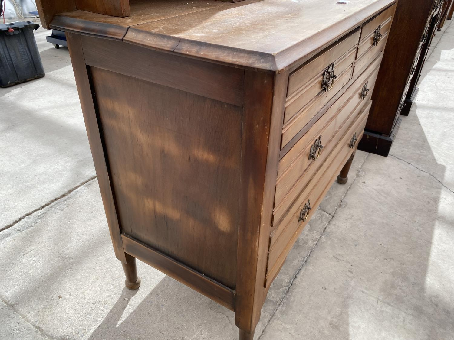 """A VICTORIAN SATINWOOD DRESSING CHEST, 38"""" WIDE - Image 6 of 7"""