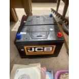 A PAIR OF JCB POWERMASTER CAR BATTERIES