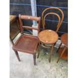 A BENTWOOD CHAIR AND VICTORIAN DINING CHAIR