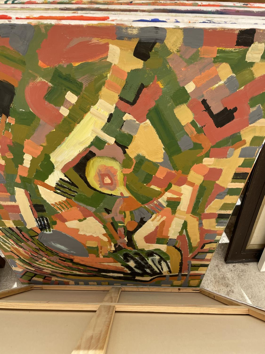 AN ASSORTMENT OF UNFRAMED PAINT ON CANVAS PICTURES - Image 12 of 14