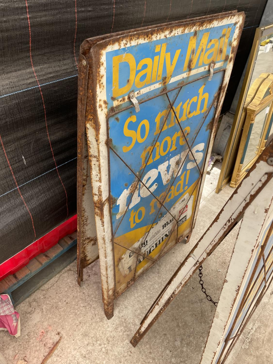A PAIR OF DAILY MAIL A BOARD NEWS STANDS - Image 6 of 8