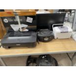 AN ASSORTMENT OF ITEMS TO INCLUDE A BUSH MONITOR, A CANON PRINTER AND A PHILIPS RADIO ETC