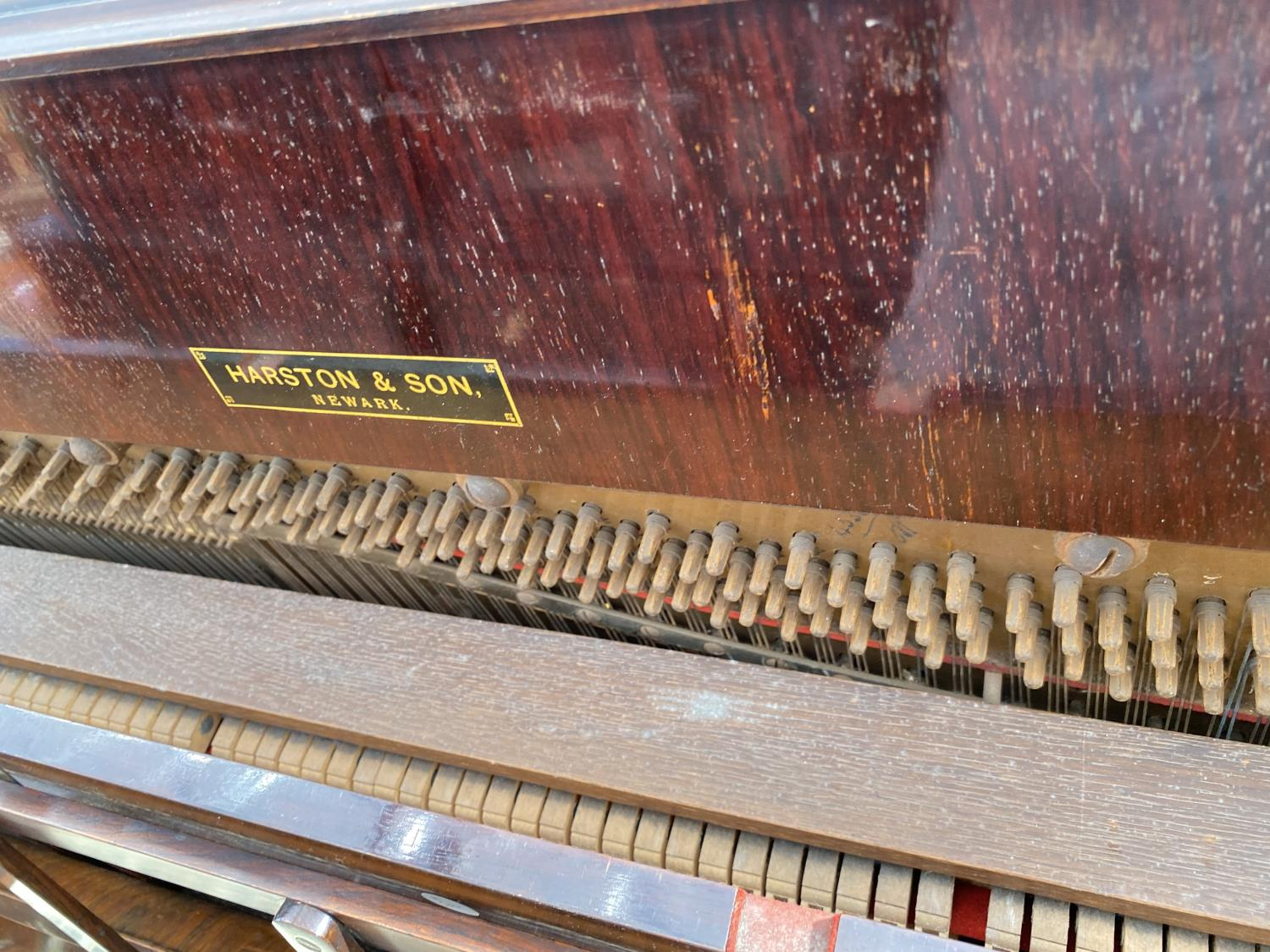 A CHAPPELL & CO LTD UPRIGHT PIANO STAMPED HARTSON & SON, NEWARK - Image 5 of 5