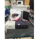 AN ASSORTMENT OF ITEMS TO INCLUDE A HEATER, FAIRY LIGHTS AND A TABLET CASE ETC