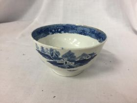 AN 18TH/ 19TH CENTURY BLUE AND WHITE BOWL. H.6CM
