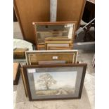 AN ASSORTMENT OF FRAMED PRINTS AND PICTURES