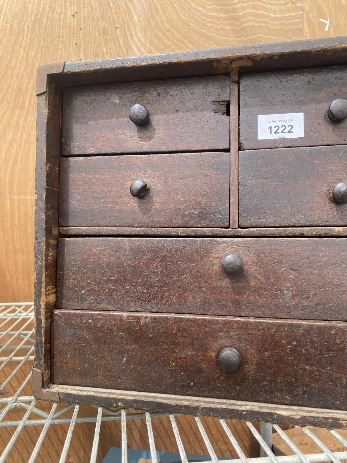 A VINATGE ENGINEERS CHEST ENCLOSING FOUR SHORT AND TWO LONG DRAWERS - Image 2 of 5