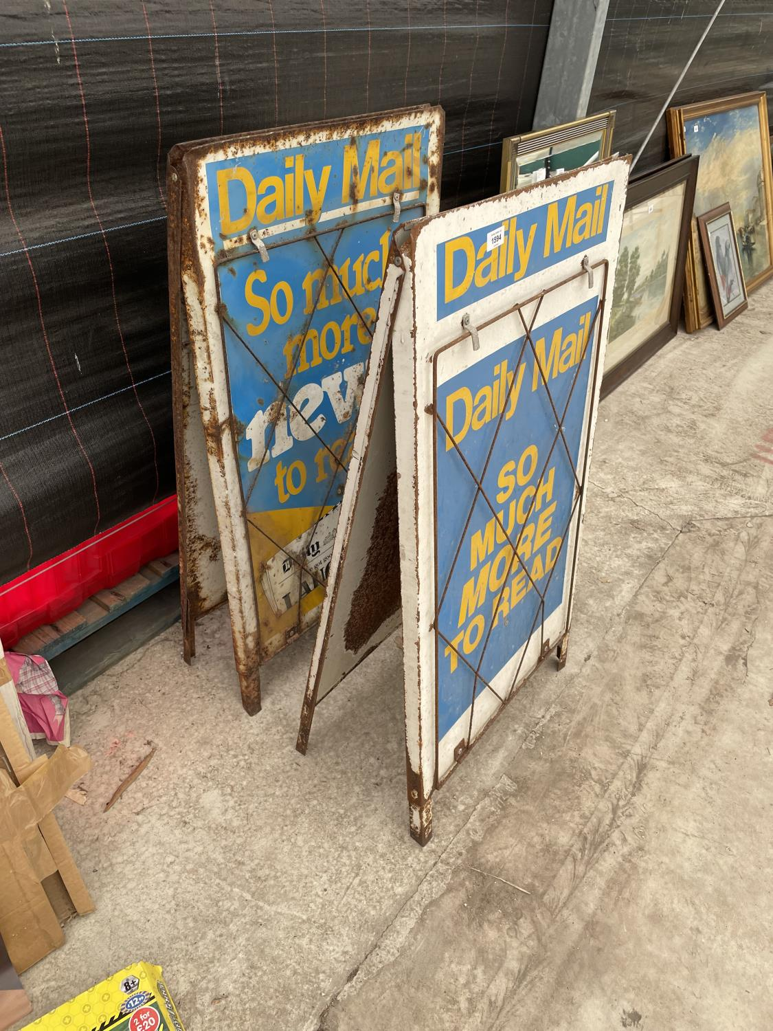 A PAIR OF DAILY MAIL A BOARD NEWS STANDS - Image 2 of 8