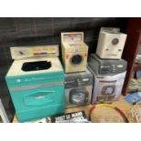 AN ASSORTMENT OF CHILDRENS TOYS TO INCLUDE WASHING MACHINES ETC