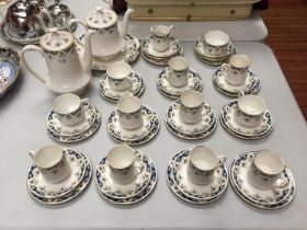 A 'PARAGON' TEA SET. TO INCLUDE CUPS, SAUCERS, TEAPOT AND COFFEE POT