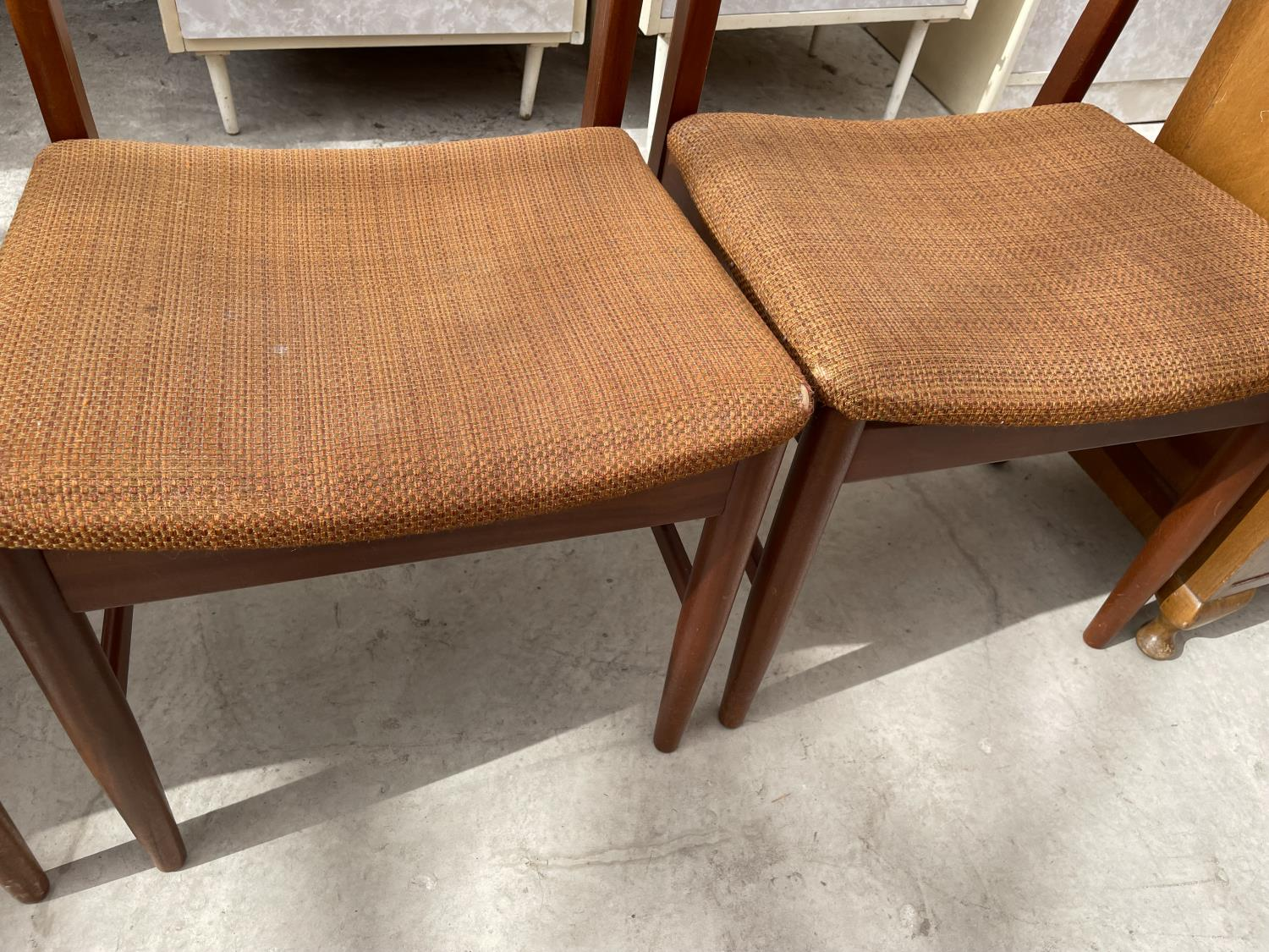FOUR RETRO TEAK DINING CHAIRS - Image 5 of 5