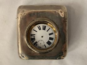 A GOLIATH POCKET WATCH, NO HANDS BUT MOVEMENT WORKING AT TIME OF CATALOGING IN A FITTED WALKER AND