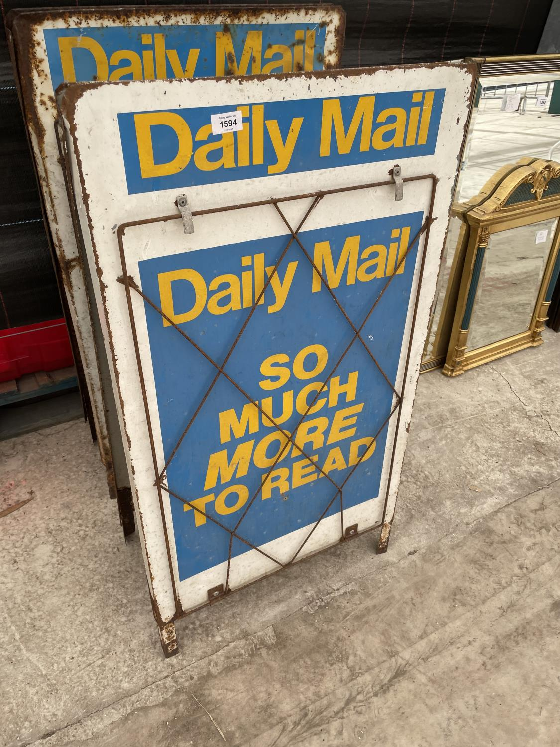 A PAIR OF DAILY MAIL A BOARD NEWS STANDS - Image 3 of 8