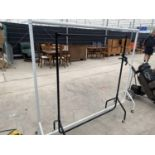 TWO METAL CLOTHES RAILS