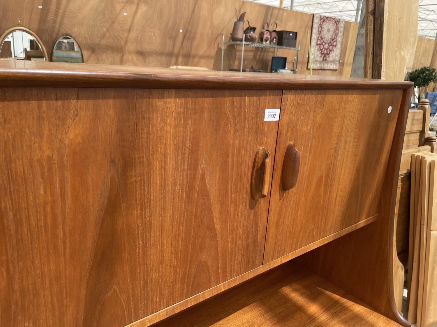 A G PLAN RETRO TEAK SIDEBOARD WITH UPPER CABINET - Image 2 of 8