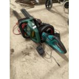 TWO ELECTRIC HEDGE TRIMMERS AND AN ASSORTMENT OF BATTERIES
