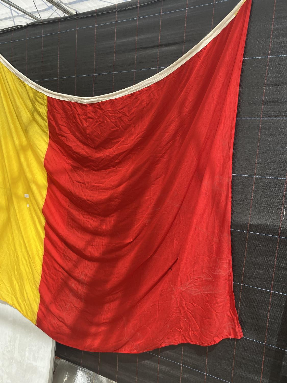 AN EXTREMELY LARGE BELGIUM FLAG - Image 2 of 4
