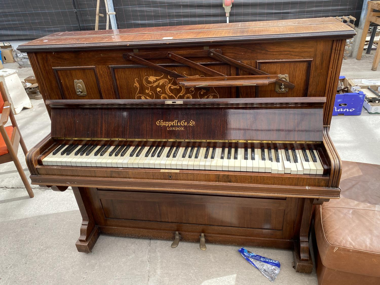 A CHAPPELL & CO LTD UPRIGHT PIANO STAMPED HARTSON & SON, NEWARK