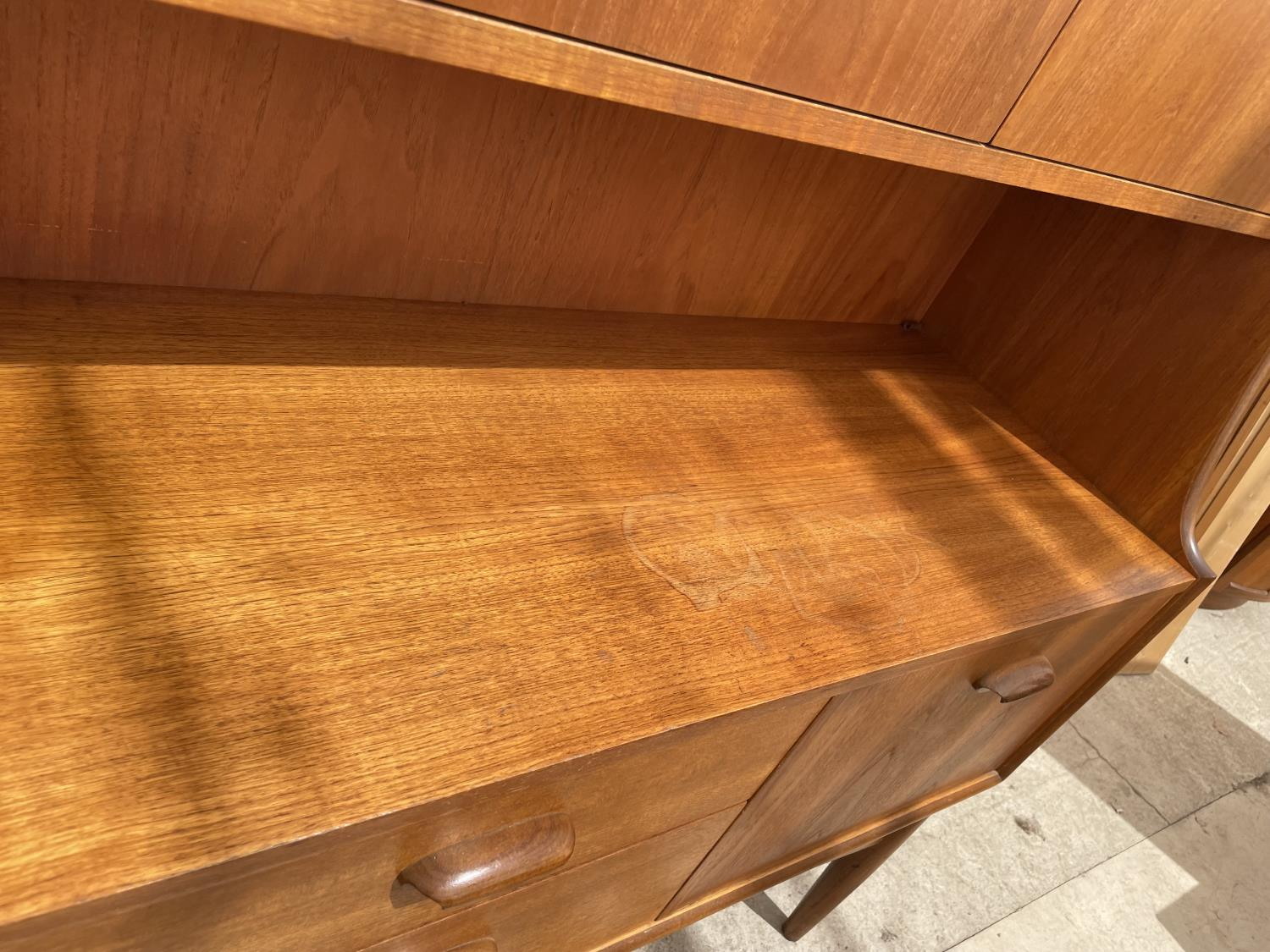 A G PLAN RETRO TEAK SIDEBOARD WITH UPPER CABINET - Image 4 of 8