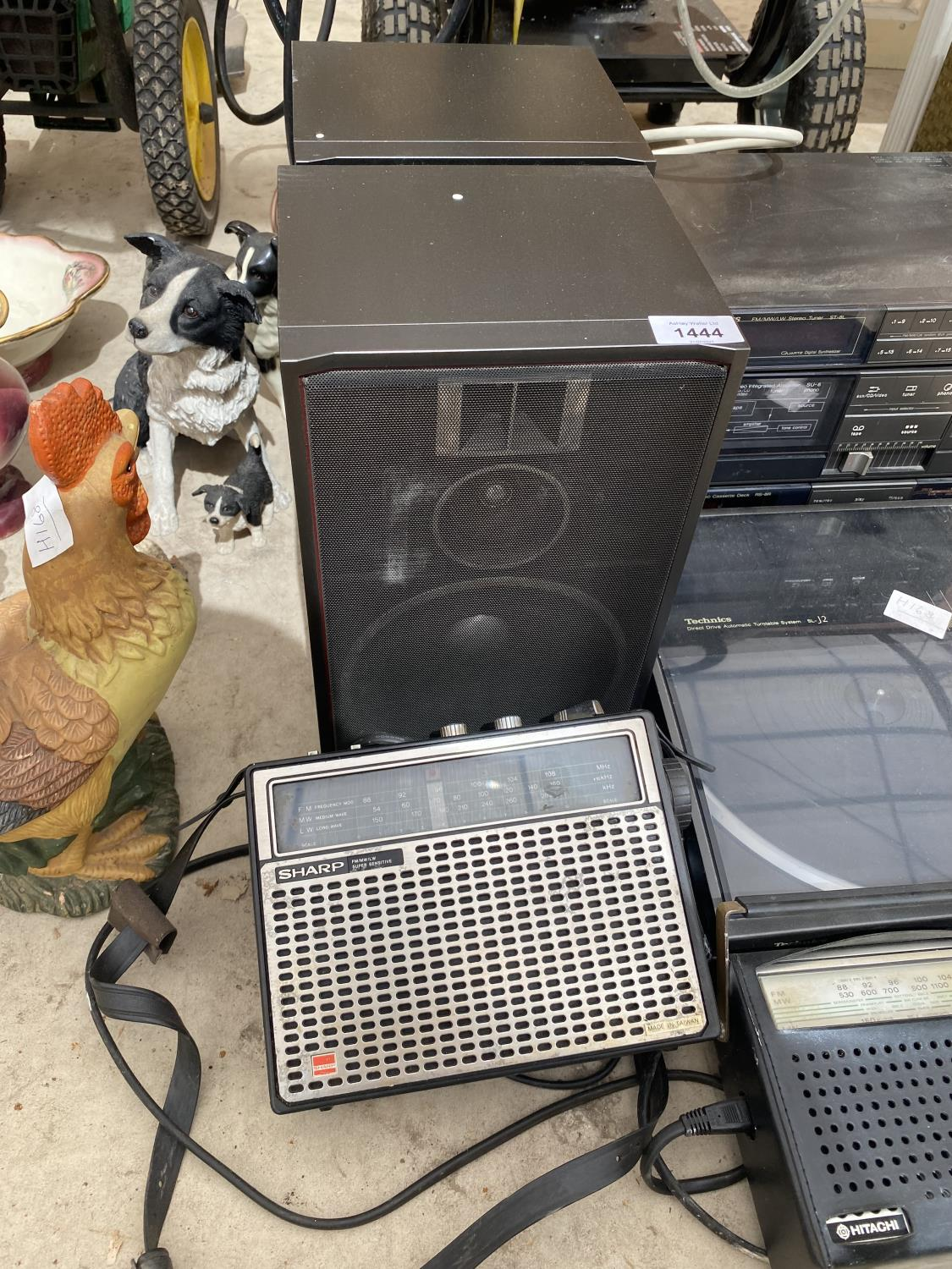 AN ASSORTMENT OF ELECTRICALS TO INCLUDE A TECHNICS STEREO SYSTEM WITH TURNTABLE ETC - Image 4 of 4