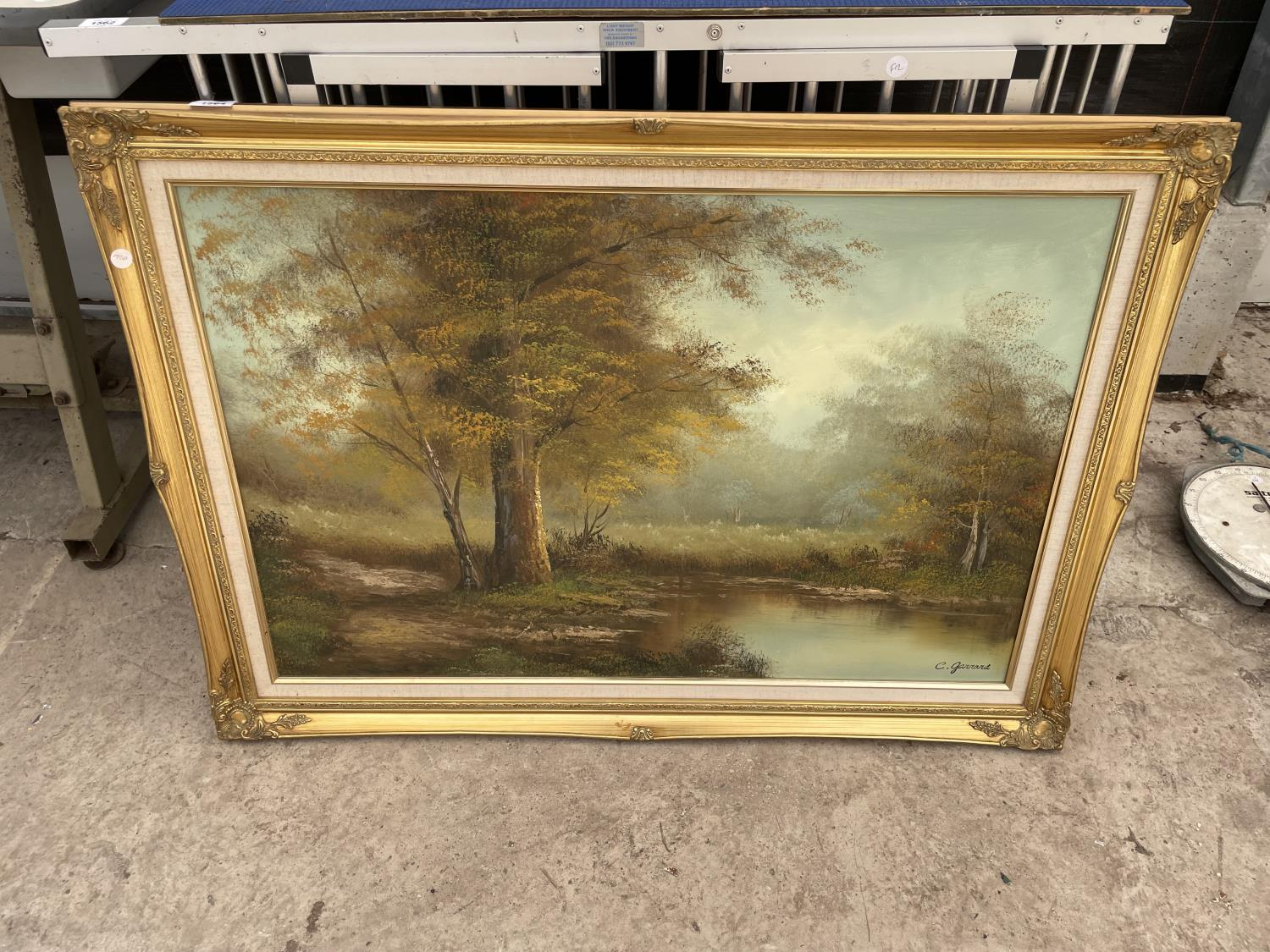 A GILT FRAMED PRINT ON CANVAS SIGNED IN THE BOTTOM RIGHT HAND CORNER - Image 2 of 4