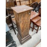 """A 20TH CENTURY BUST PLINTH ON STEPPED BASE, 40.5"""" HIGH AND 12X11"""" TOP"""