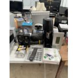 AN ASSORTMENT OF ELECTRICALS TO INCLUDE A SODASTREAM, TOASTER AND SPEAKERS ETC