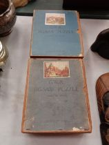 A COLLECTION OF TWO VINTAGE G.W.R RAILWAY JIGSAWS