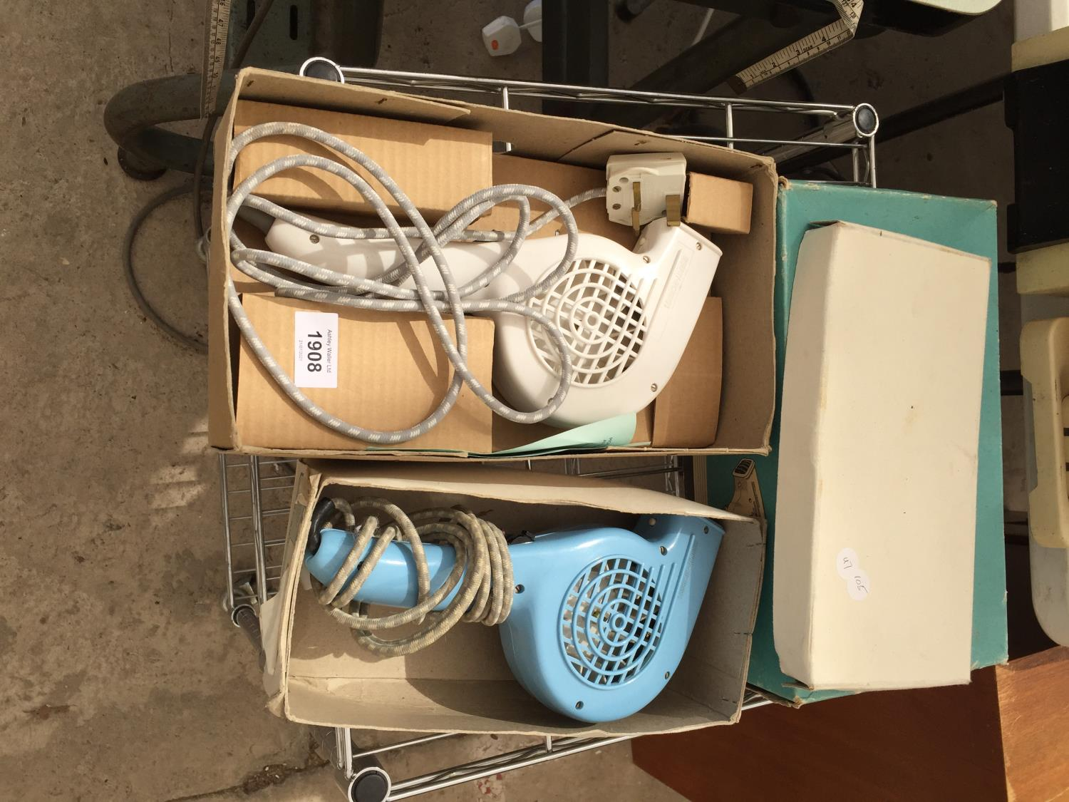 A PAIR OF VINTAGE/RETRO MORPHY RICHARDS HAIR DRYERS