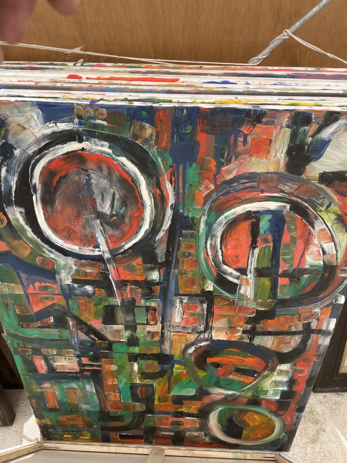 AN ASSORTMENT OF UNFRAMED PAINT ON CANVAS PICTURES - Image 3 of 14