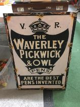 A 'WAVERLEY PICKWICK AND OWL PENS' WALL ART