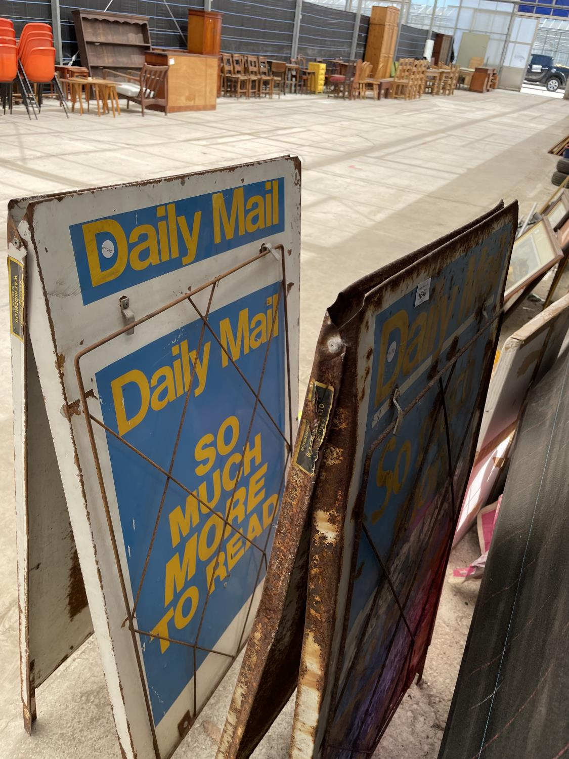 A PAIR OF DAILY MAIL A BOARD NEWS STANDS - Image 8 of 8