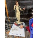 AN ASSORTMENT OF CERAMICS TO INCLUDE A BESWICK DOLMATION AND A ROYAL DOULTON LONG JOHN SILVER TOBY