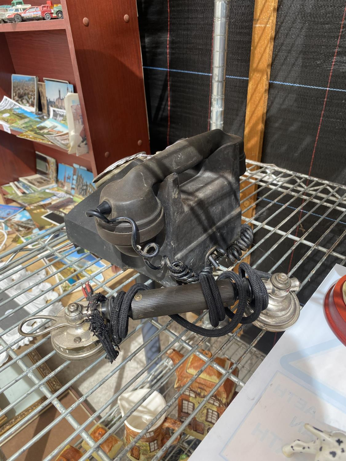 A VINTAGE TELEPHONE AND A FURTHER TELPHONE RECIEVER - Image 4 of 4